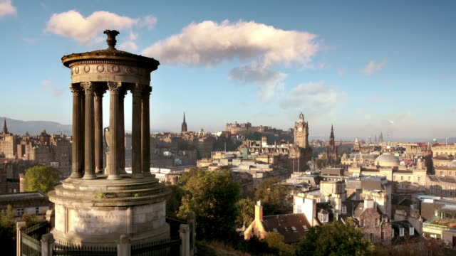 Calton Hill, Edinburgh, Scotland, UK video