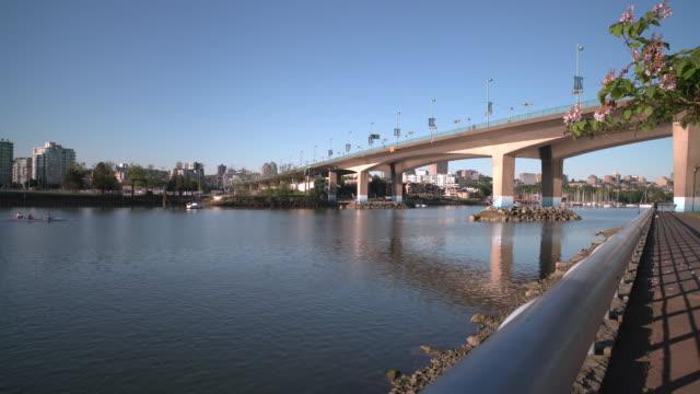 Cambie Bridge, False Creek, Vancouver UHD video