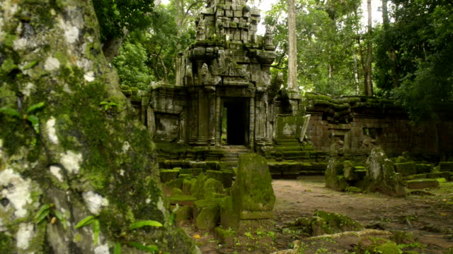 Cambodian UNESCO World Heritage Site Angktor Thom temple video HD video