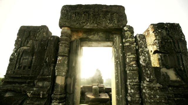Cambodian UNESCO World Heritage Site Phnom Bakheng temple video HD video
