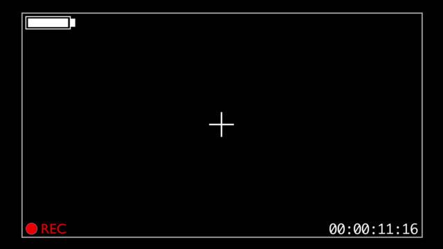 Camcorder style overlay - start of recording GFX - full battery