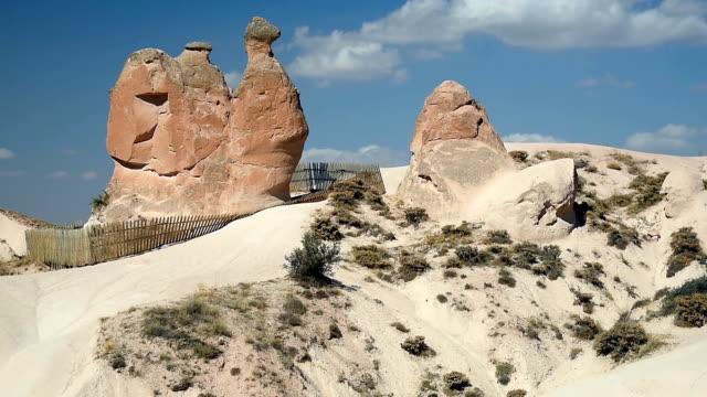 kamel rock i devrent valley på cappadocia. turkiet - anatolien bildbanksvideor och videomaterial från bakom kulisserna