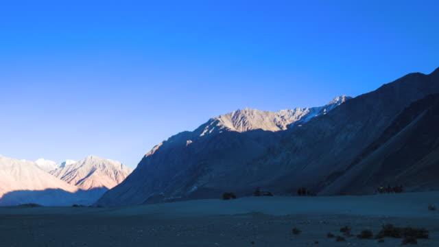 Camel safari at Hundar sand dunes in Nubra Valley, Ladakh, North India video
