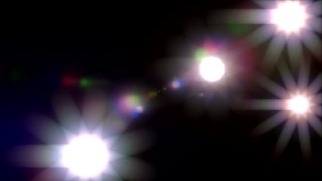 Camera flashes paparazzi lens flare fame red carpet loop video