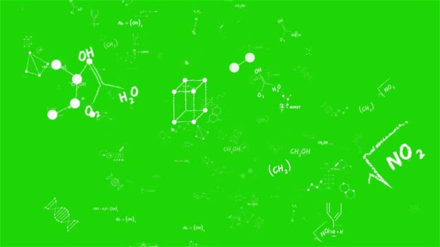 Camera flies through chemical formulas on background. Chemical reaction, various organic compounds, chemical formulas and molecules. Seamlessly loopable abstract animation. Greenscreen chromakey Camera flies through chemical formulas on background. Chemical reaction, various organic compounds, chemical formulas and molecules. Seamlessly loopable abstract animation. Greenscreen chromakey chemical formula stock videos & royalty-free footage