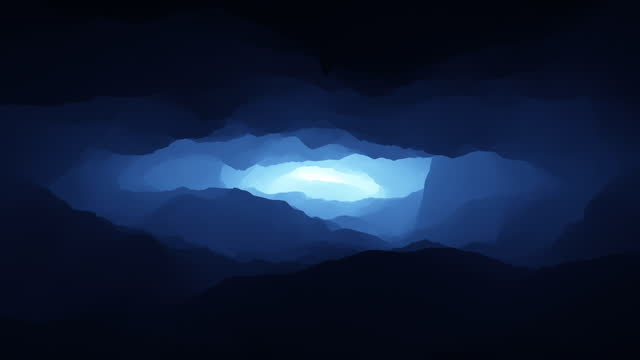 Camera Flying In The Tunnel. Abstract Background Animation.