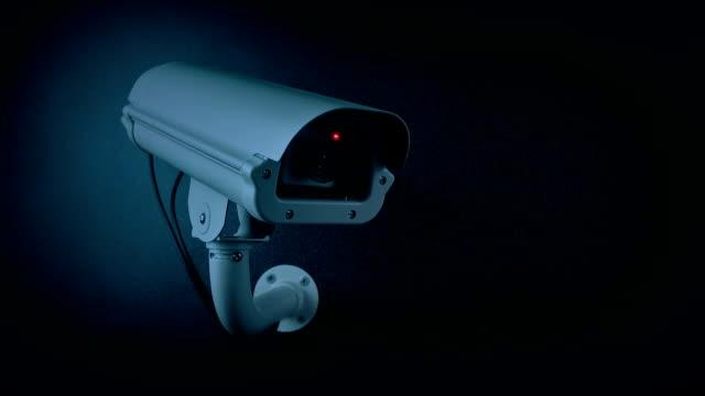 CCTV Camera In Evening Flashing Light Loop