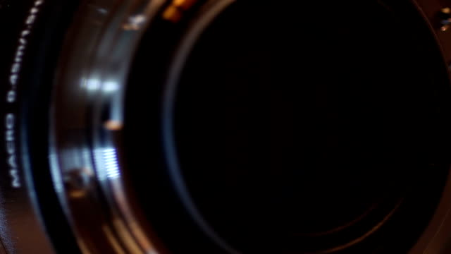Camera lens close up video