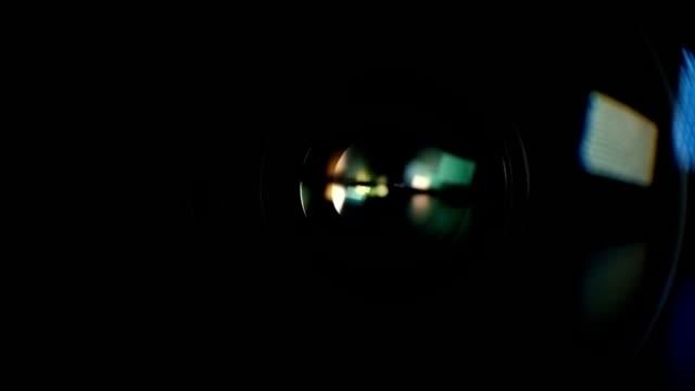 Camera Lens Reflection. Color Lens Flare