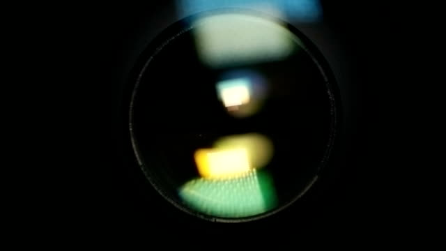 Camera Lens Reflection. Lens Flare video