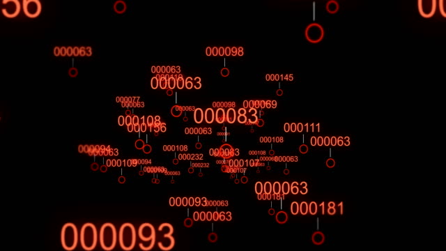 Camera moves through digital landscape through infected virus data video