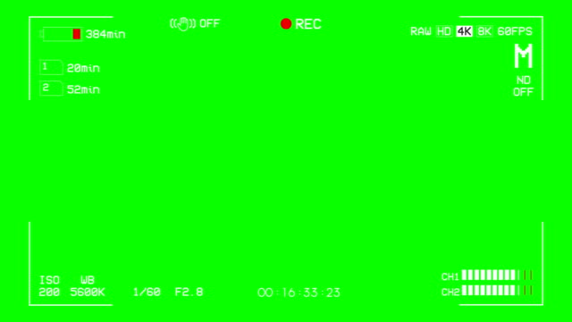 kamera inspelning skärmen gröna rutan överlägg alfakanal - ram bildbanksvideor och videomaterial från bakom kulisserna