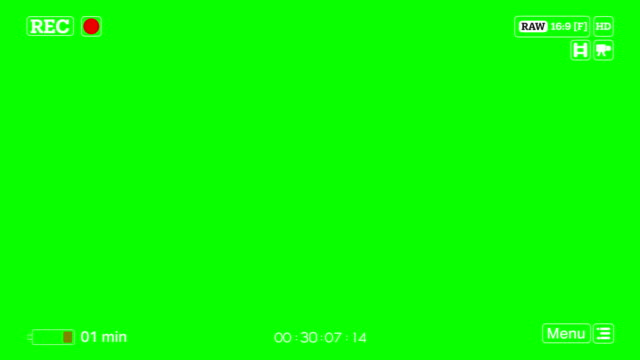 4K Camera Recording Screen Low Battery Green Box Overlay Alpha Channel