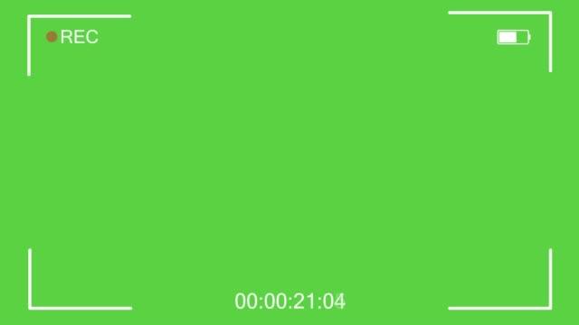kamerainspelningsskärm, sökare på svart bakgrund - filma bildbanksvideor och videomaterial från bakom kulisserna
