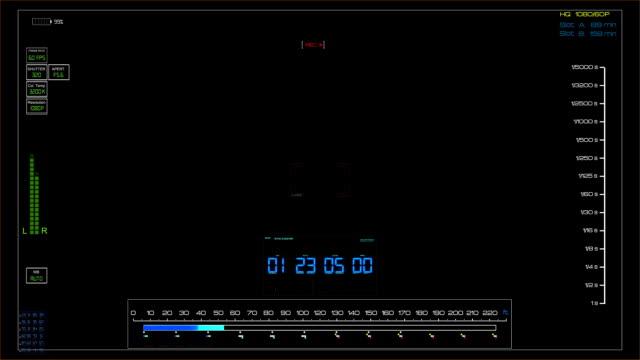DSLR Camera recording viewfinder - Hud stock video video