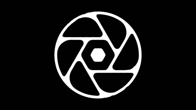 Camera Shutter Blackboard Line Animation with Alpha