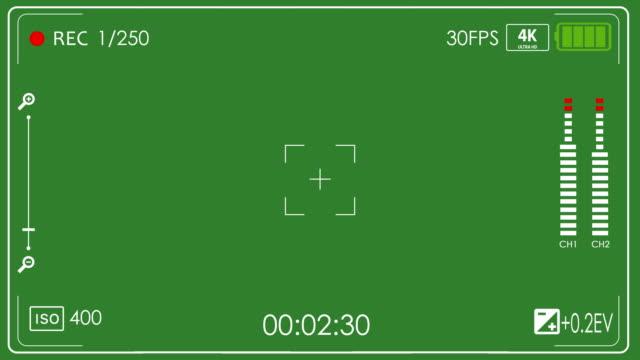 sucher-kamera-sucher mit alpha-kanal im loop-modus 4k kamera - aufnahmestudio stock-videos und b-roll-filmmaterial
