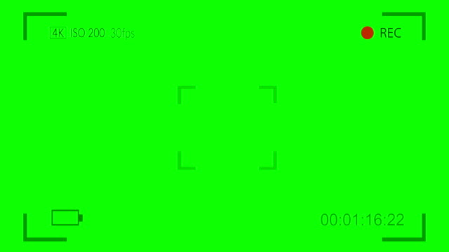 Camera viewfinder digital overlay display on green screen Camera viewfinder digital overlay display on green screen camera photographic equipment stock videos & royalty-free footage