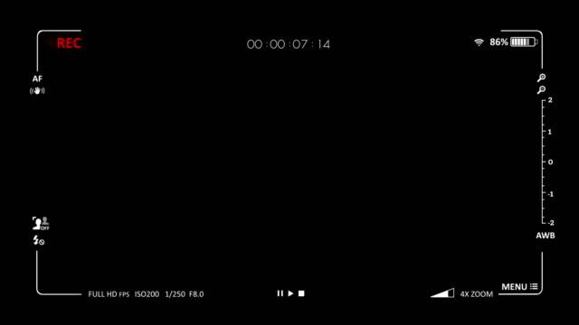 Camera viewfinder digital overlay display