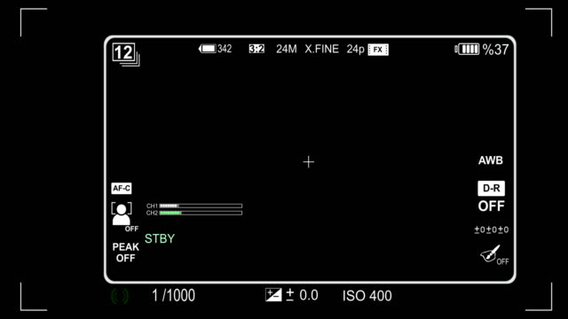 Camera viewfinder iso and shutter speed animation video
