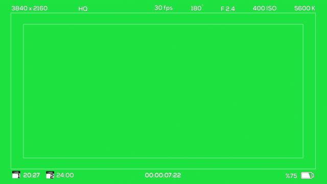 inspelning i 4k kamera sökare chroma grön digitalt överlägg - fotoram bildbanksvideor och videomaterial från bakom kulisserna