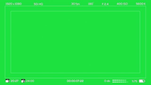 Camera Viewfinder Recording Chroma Green video