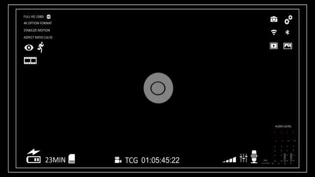 Camera viewfinder Camera viewfinder with alpha channel (transparent background) camera photographic equipment stock videos & royalty-free footage