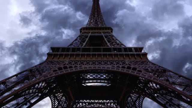 Paris Eiffel Tower Zoom Out Stock Videos And Royalty Free Footage