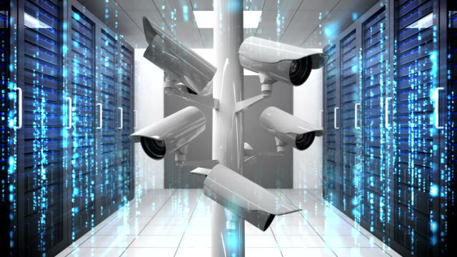 CCTV cameras in data center video