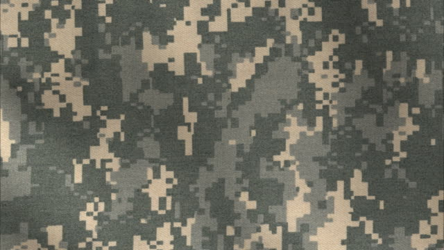 ACU Camo pattern background  camouflage clothing stock videos & royalty-free footage