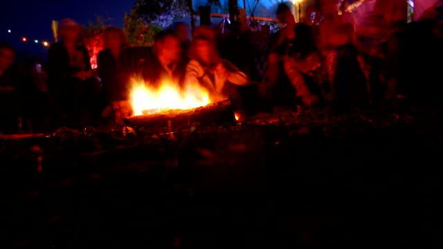 camp fire time-lapse video