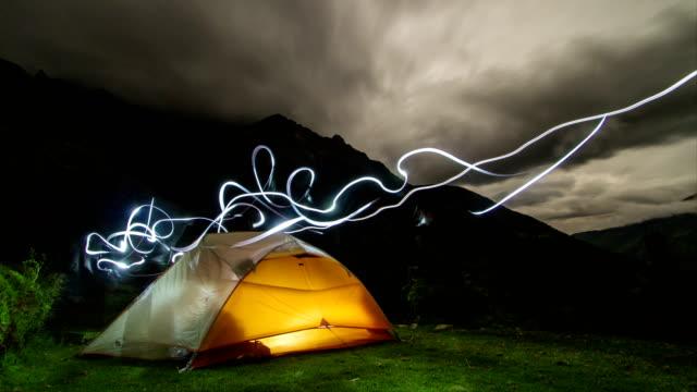 Camping close to the Choquequirao Inca ruins / 4k Time Lapse (Peru)