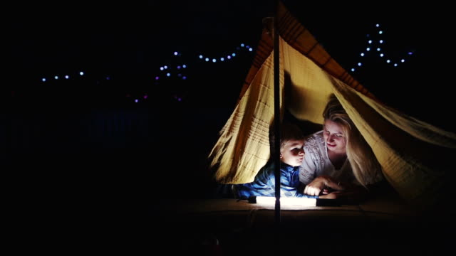 Camping in our backyard video