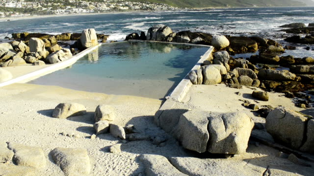 Camps Bay Cape Town South Africa Beautiful Camps Bay at the base of Table Mountain in Cape Town, South Africa at sunset in high definition footage with ambient audio cape peninsula stock videos & royalty-free footage