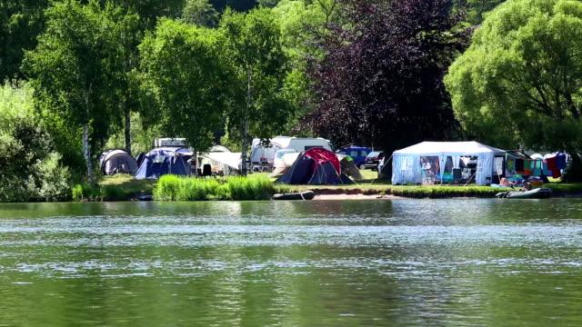 Campsite close to the lake video