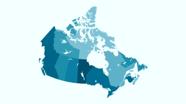 Video Canada - Blue tone animated country map