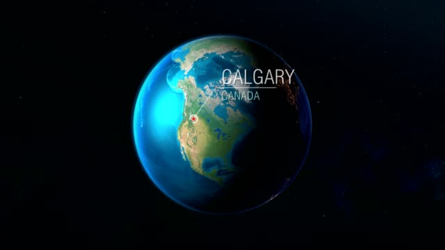 Video Canada - Calgary - Zooming from space to earth