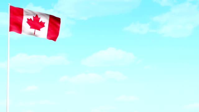 canada day flag hd video - canada day stock videos & royalty-free footage