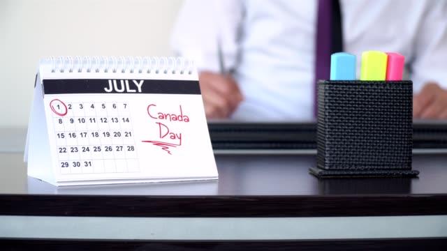 kanada-dagen - speciella dagar - calendar workout bildbanksvideor och videomaterial från bakom kulisserna
