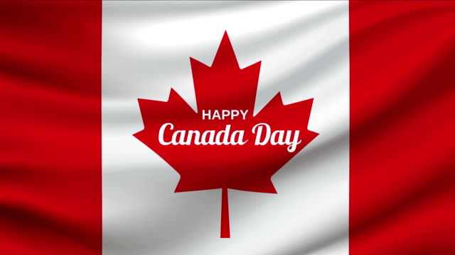 canada day waving flag loop. 4k animation. - canada day stock videos & royalty-free footage
