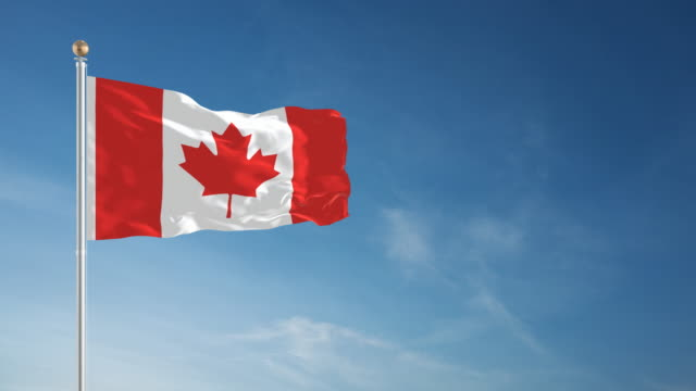 4k canada flag - loopable - canada flag stock videos & royalty-free footage