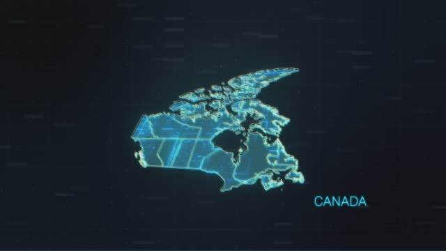 Canada map with World Map