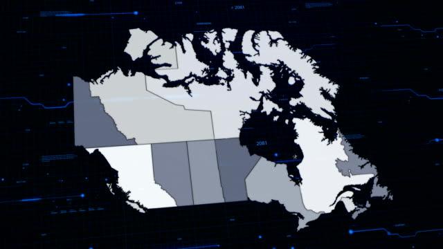Canadá rede mapa - vídeo