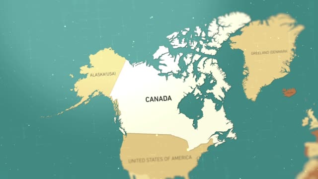 canada on world map stock video - hiroshima filmów i materiałów b-roll