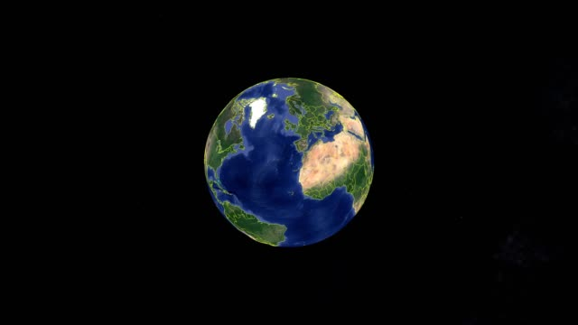Video Canada with flag. 3d earth in space - zoom in Canada outer