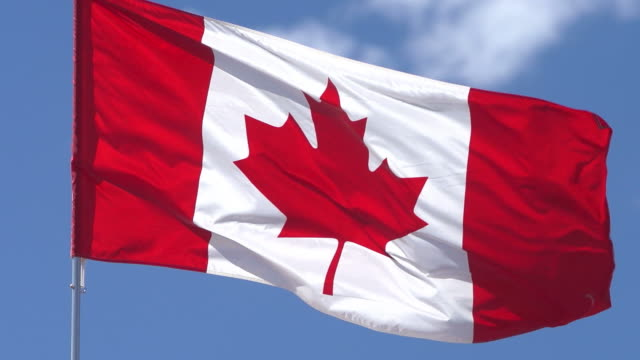 canadain flagge - kanada stock-videos und b-roll-filmmaterial