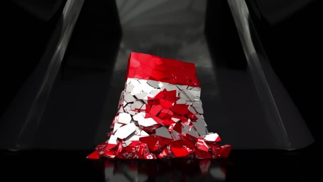 vídeos y material grabado en eventos de stock de colapso de canadá canadá dólar del país de bandera 4k - recesión