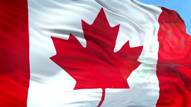 vídeos y material grabado en eventos de stock de bandera canadiense-cámara lenta-resolución 4k - canadá
