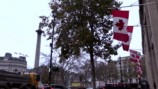 Canadian Flags at London Embassy
