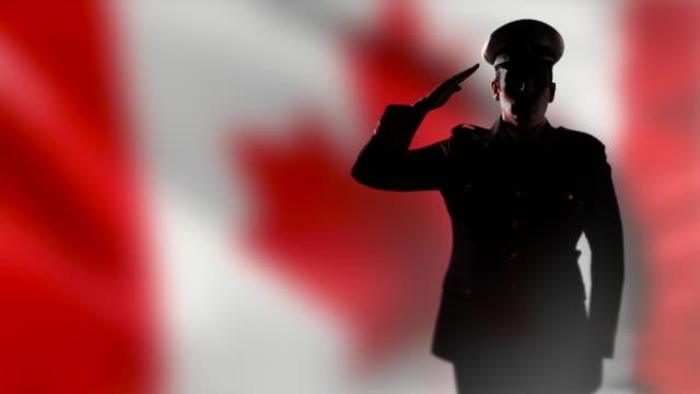 Canadian Officer Salute, Canada National Flag, Patriotism video